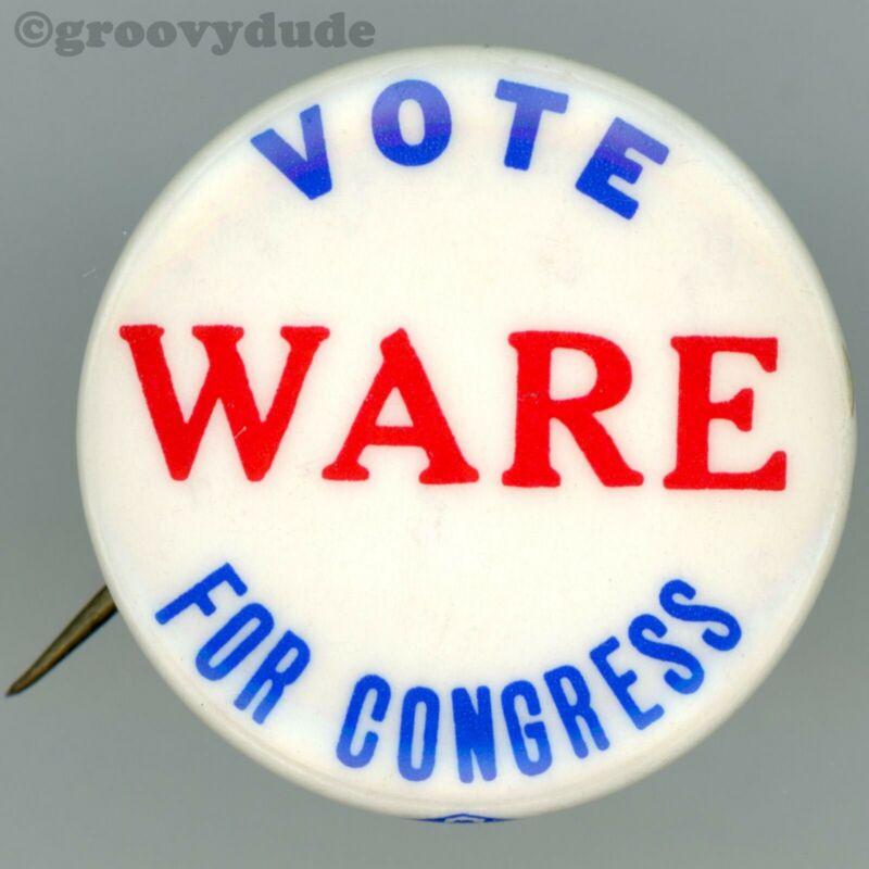 Vote John H. Ware III For Congress Pennsylvania PA Campaign Pin Pinback Button