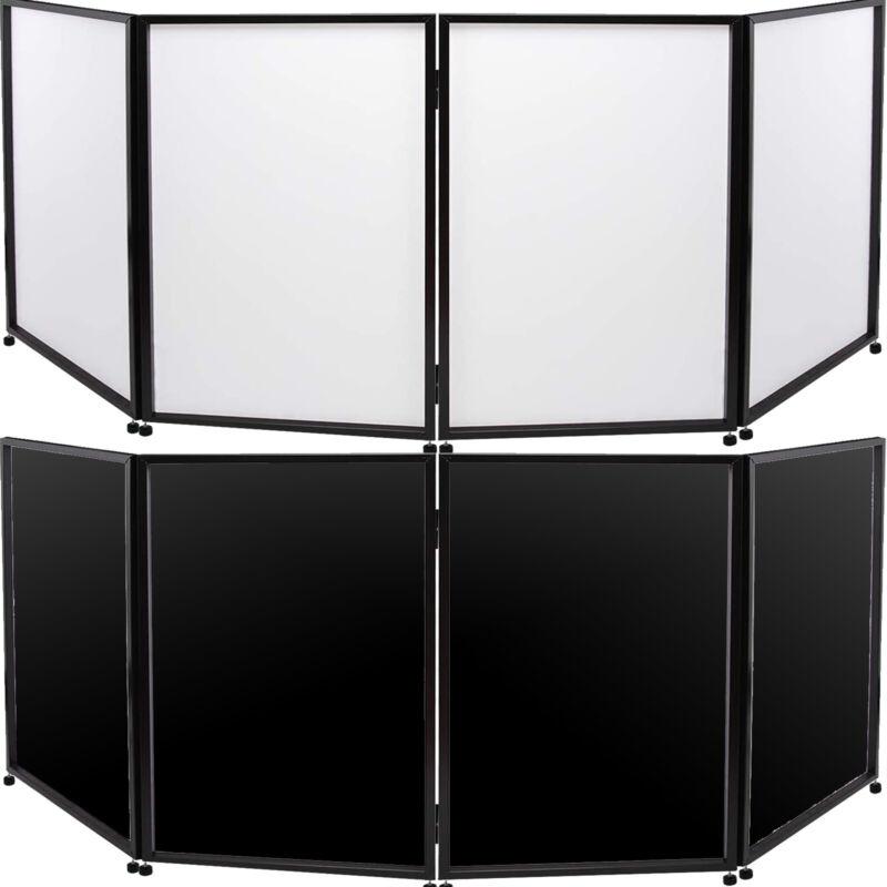 DJ Event Facade White+Black Scrim Metal Frame Booth W/Travel Bag Case Stable