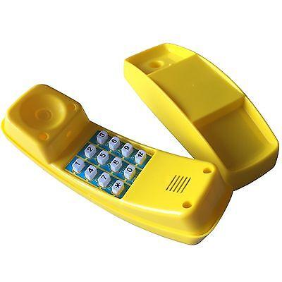 Spieltelefon Kinder Telefon gelb für Spielhaus Spielturm Spielhandy Kinderhandy