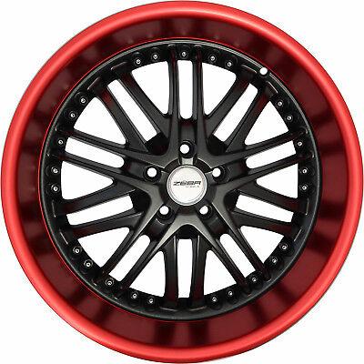 4 GWG Wheels 18 inch Black Red Lip AMAYA Rims fits CHEVY CAMARO LT 2016 - 2018