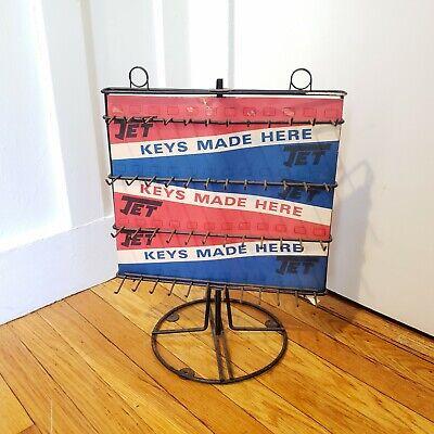 "Vintage Cast Iron Jet ""Keys Made Here"" Locksmith Key Blank Counter Top Display"