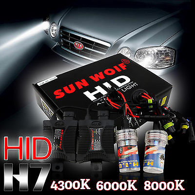 55W HID Xenon Conversion KIT Headlights Error Free Canbus H7 6000/8000/10000K