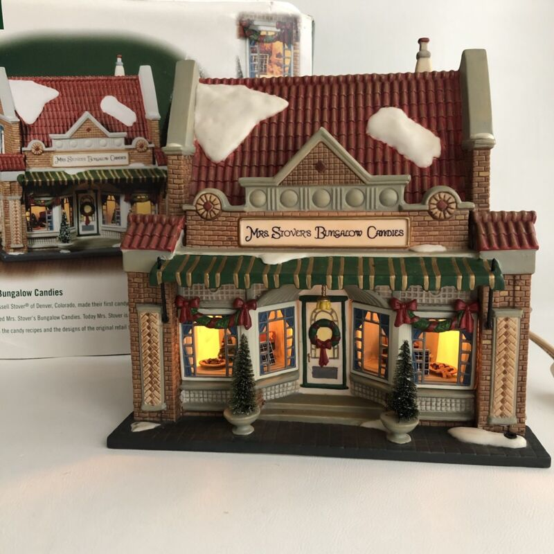 DEPT 56 CHRISTMAS IN THE CITY MRS STOVERS BUNGALOW CANDIES #58917 MISSING SIGN