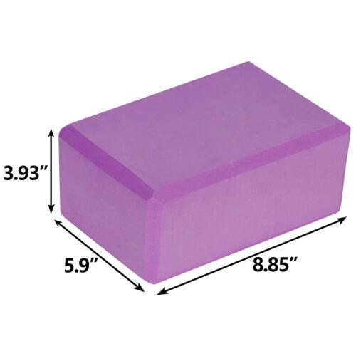 Yoga Block Plus Strap with Metal D-Ring Yoga Brick Cork Yoga Block High Density Fitness, Running & Yoga
