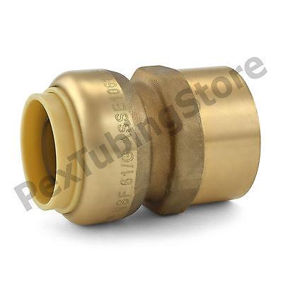25 34 Sharkbite Style Push-fit X 34 Fnpt Lead-free Brass Fnpt Adapters