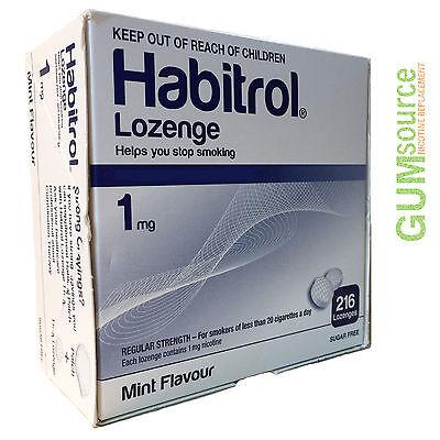 Habitrol Nicotine Lozenge 1mg Mint  1 box 216 -