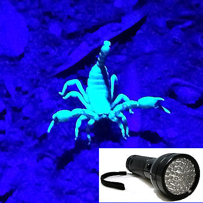 51 LED UV Black Light use on Fluorescent Minerals Rocks Fossils -US SHIP