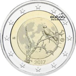 Piece-2-euros-commemorative-FINLANDE-2017-La-Nature-Finlandaise-Qualite-UNC