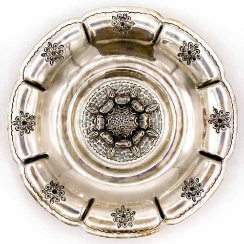 "VTG L Maciel Mexico Sterling Silver 17oz 10 ¾"" Serving Dish Bowl Handcrafted! 53"