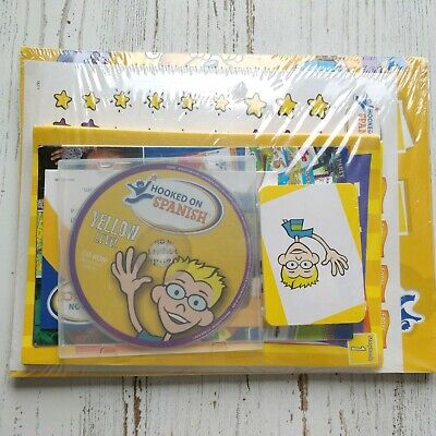 Hooked On Phonics Spanish Yellow Level CD Rom Flash Cards Books Stickers NEW