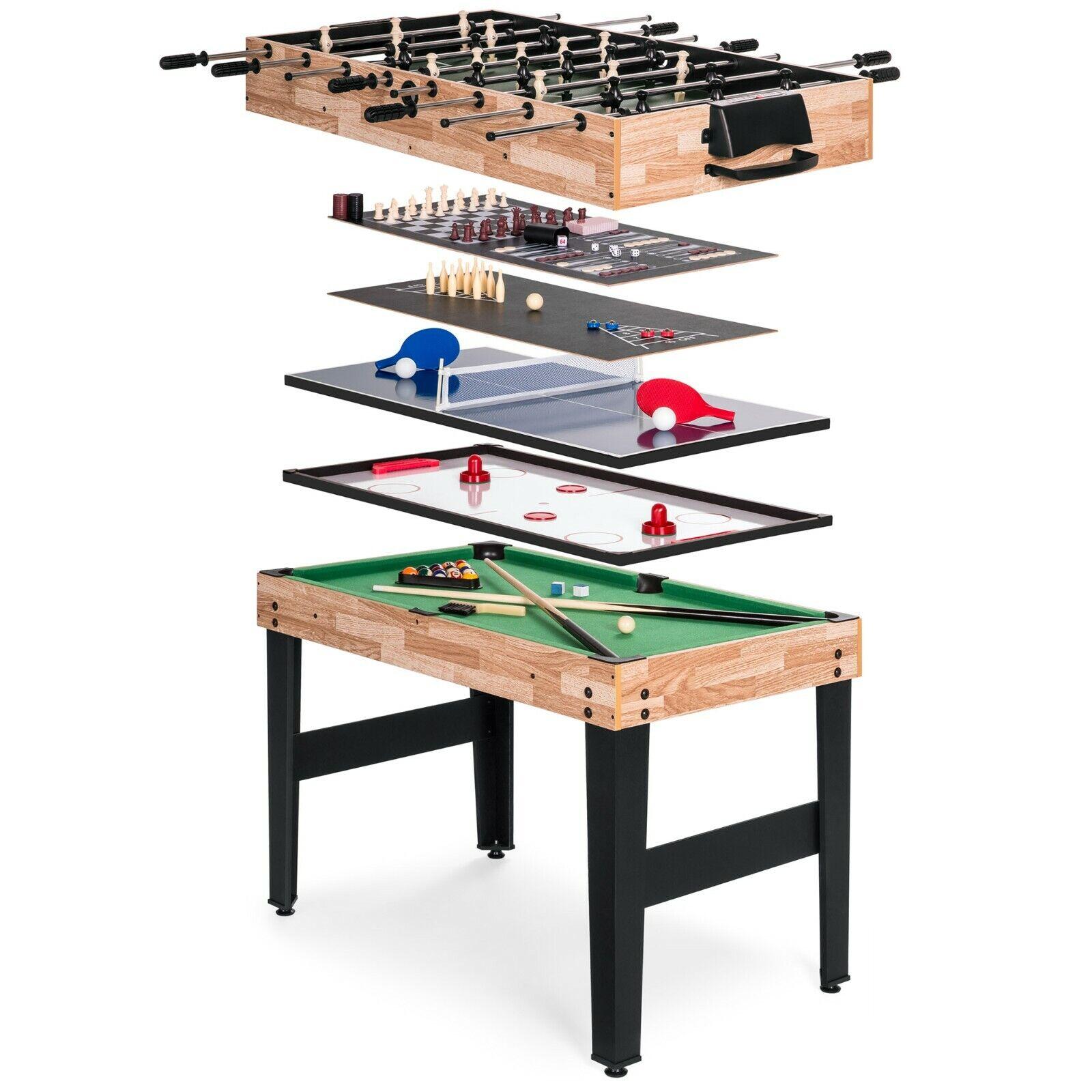 NEW 10-in-1 Combo Game Table Set w/ Billiards, Foosball, Pin