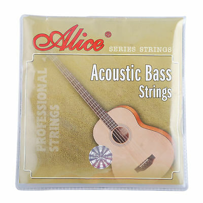 - 1Set Alice 4 Strings Acoustic Bass Strings Steel Core for 4-String Acoustic Bass