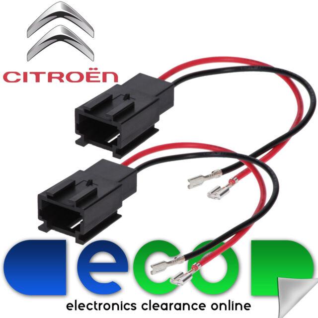 Citroen Xsara Picasso Rear Door Car Speaker Adaptor Plug Lead Cable Connectors