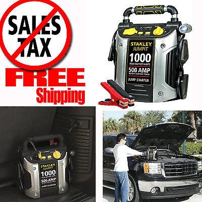 (Battery Jump Starter Air Compressor Peak Portable Car Charger Booster Stanley US)