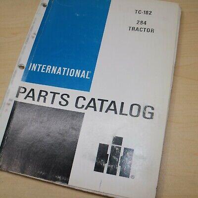 Ih International 284 Tractor Parts Manual Book Spare Catalog Farm List 1985 Oem