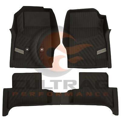 2015-2019 GMC Canyon Extended Cab GM Front & Rear All Weather Floor Liners Black Cab Black Front Floor Liners
