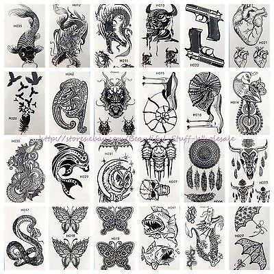 20 sheets wholesale cute black henna lace temporary tattoo finger wrist arm neck - Cute Finger Tattoos