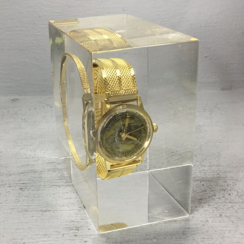 Jewel Company INC Salesman Award Limited Edition Wrist Watch Encased in Lucite