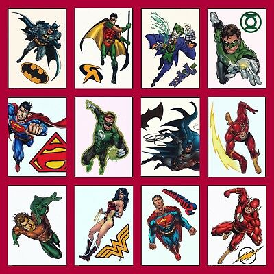 SUPERHERO JUSTICE LEAGUE HEROES WATERPROOF TEMPORARY TATTOO FOR KIDS BOYS GIRLS - Tattoos For Children