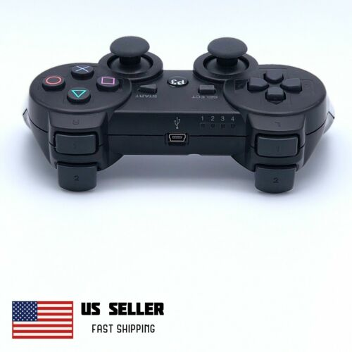 Wireless Controller Compatible With PS3 PlayStation 3 PC MAC Black