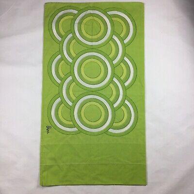 """Vtg Vera Neuman Green mod orbit Standard Pillowcase 20"""" X 35.5"""""""