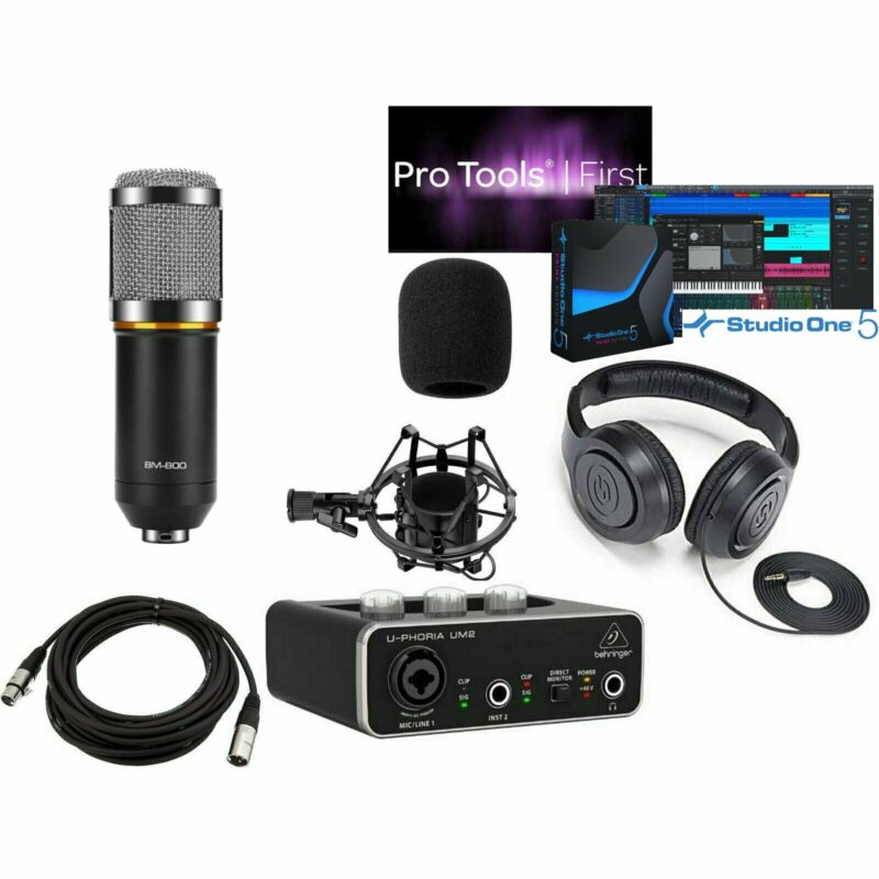Home Recording Pro Tools Bundle Studio Presonus Studio One Behringer Free Ship