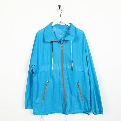 Vintage 90s K-WAY Soft Shell Lightweight Cagoule Anorak Jacket Blue | Medium M