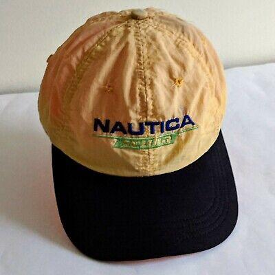 GENUINE NAUTICA SCUBA Yellow Baseball Hat Cap 100% Nylon Adjustable