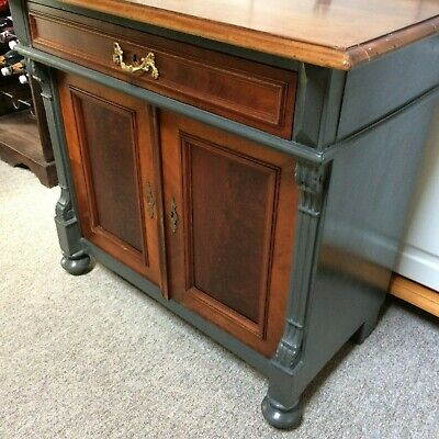 Reclaimed/Restored German Gründerzeit Cabinet with Cupboard & one Drawer