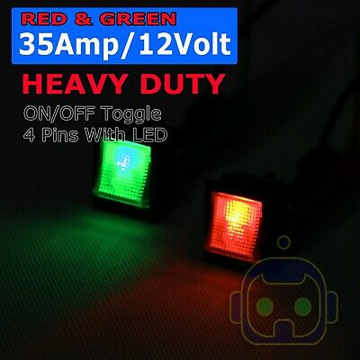 2x Toggle Switch Heavy Duty 35a 12v Spst 2 Terminal Onoff Car Boat Atv
