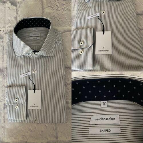 Seidensticker Shirt, Shaped Fit,15.3/4, Medium, Stripe, Cotton, BNWT
