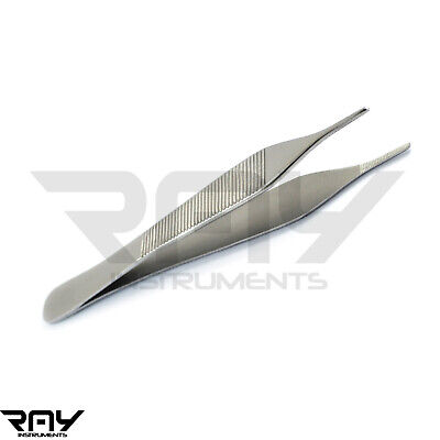 Surgical Tissue Dressing Thumb Forceps Dental Micro Adson Tweezer 12cm