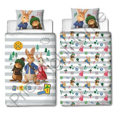 Peter Rabbit Forest Single Duvet Cover And Pillowcase Set Kids Reversible Panel