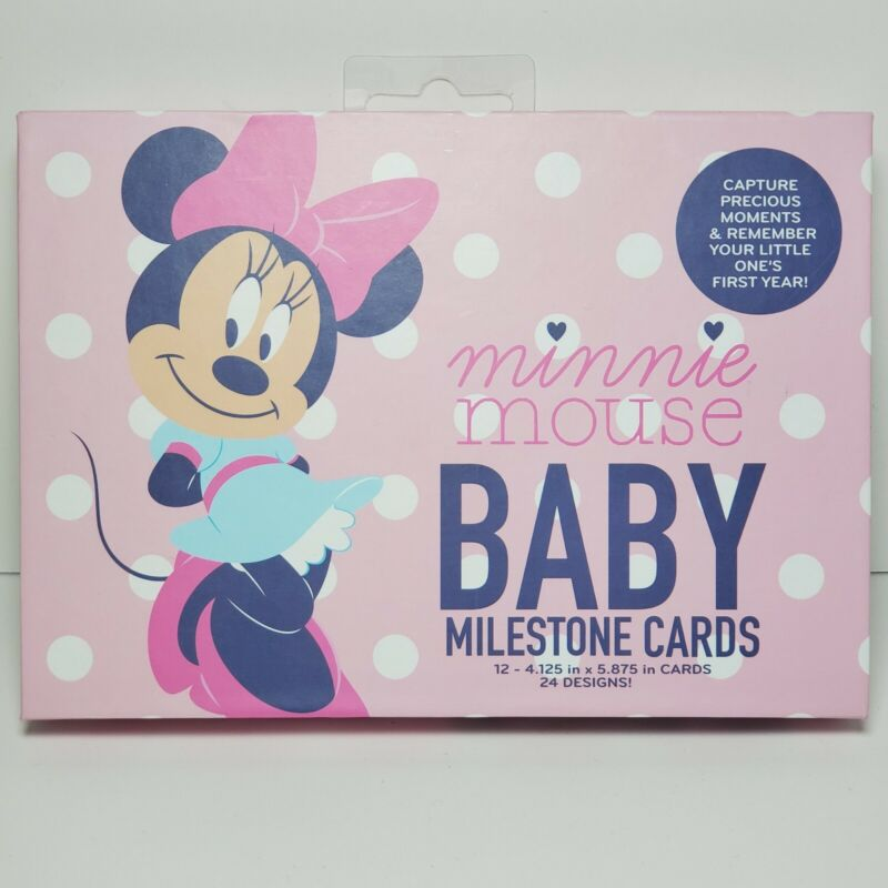 NEW Disney Baby Minnie Mouse First Year Milestone Belly Cards