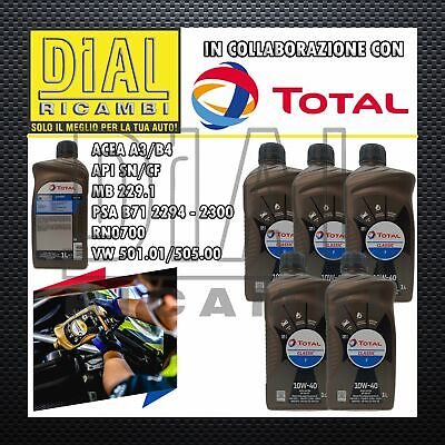 5lt OLIO MOTORE TOTAL CLASSIC 7 10W-40 VW 501.01 VW 505.00 RENAULT RN0700 PSA