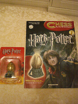 BN HARRY POTTER CHESS MAGAZINE NO.61 WITH THE GLOWING BLACK PAWN