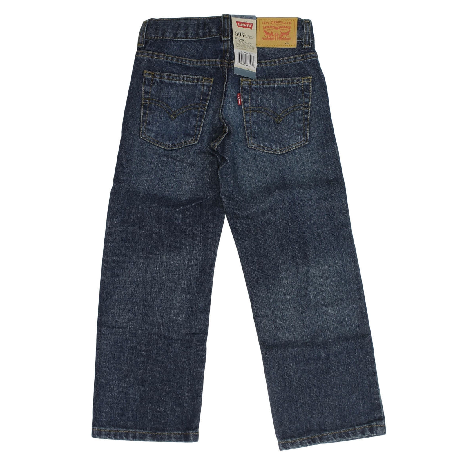 Details about Levi's 505 Straight Leg Regular Fit Jeans for Boys Adjustable Waistband