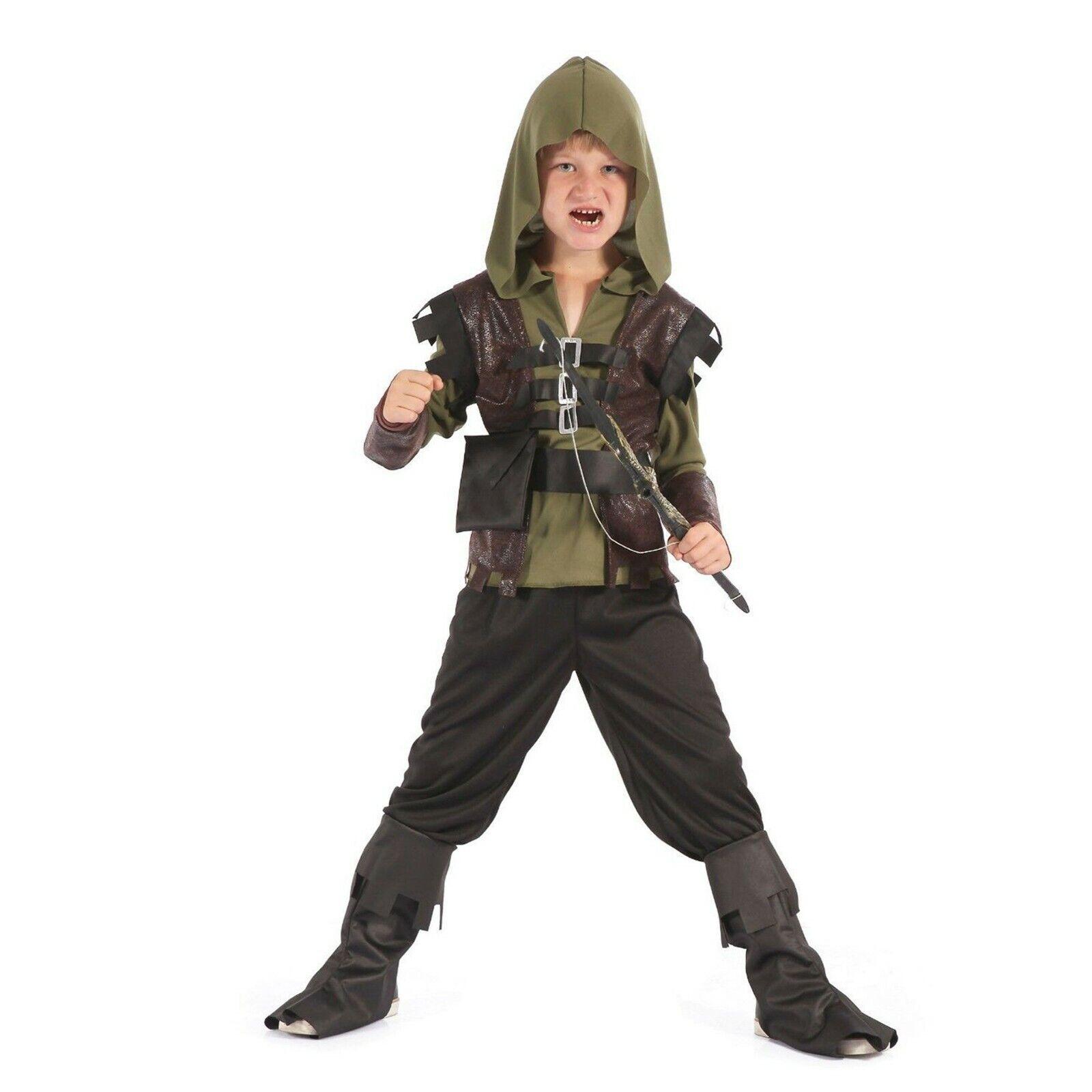 Boys Medieval Assassins Creed Costume Kids Fancy Dress Robin Hood Book Week Day Ebay