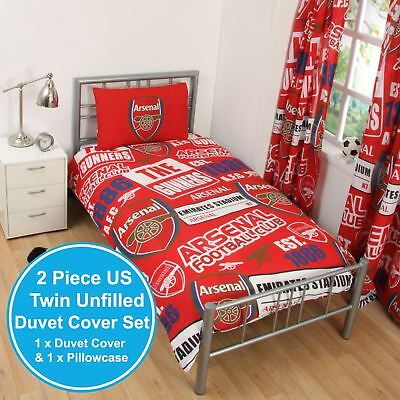 ARSENAL FC PATCH UK SINGLE / US TWIN UNFILLED DUVET COVER & PILLOWCASE SET NEW ()