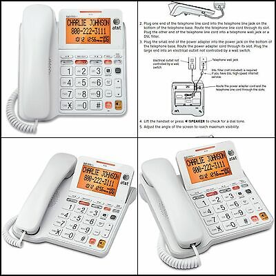 AT&T CL2940 Landline Corded Phone Desk Wall HIgh Quality Tel