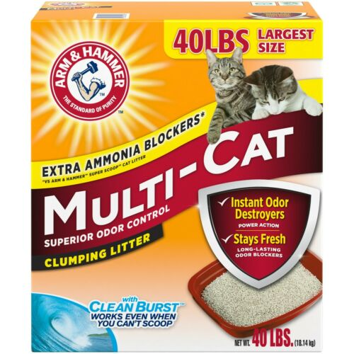 Arm & Hammer Scented Multi-Cat Clumping Litter, 40 lbs.