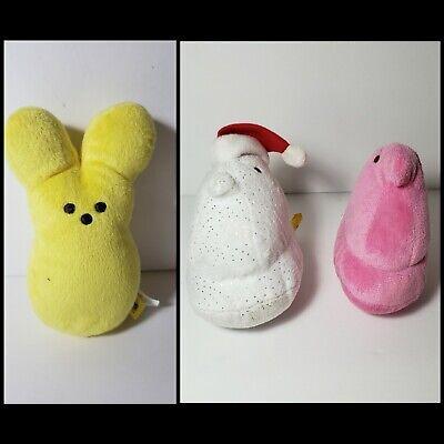 Peeps Stuffed Bunny (3 Piece Peeps Just Born Easter Candy Bunny Chicken Stuffed Animal Plush)