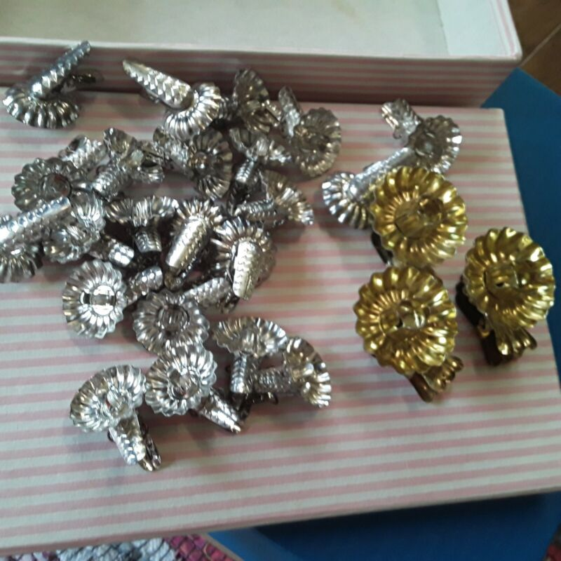 VtG Candle Box Lot Metal Christmas Tree Candle Holders Clip On Vintage
