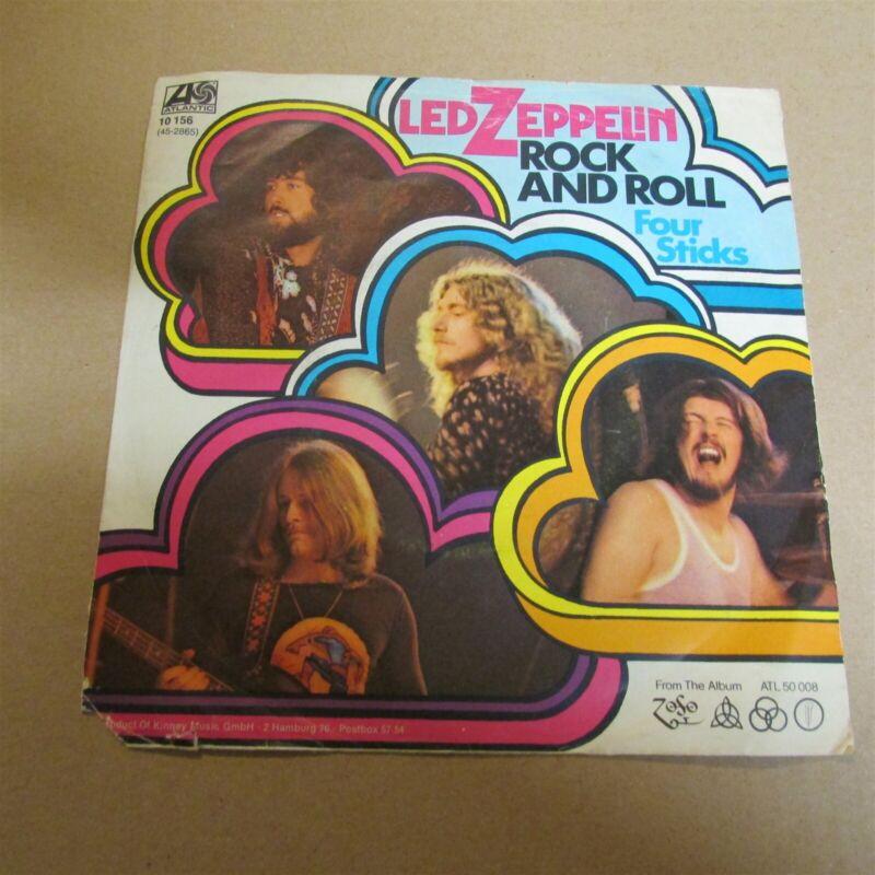 "Led Zeppelin Rock And Roll / Four Sticks 7"" Vinyl German Import 1972 Vg"