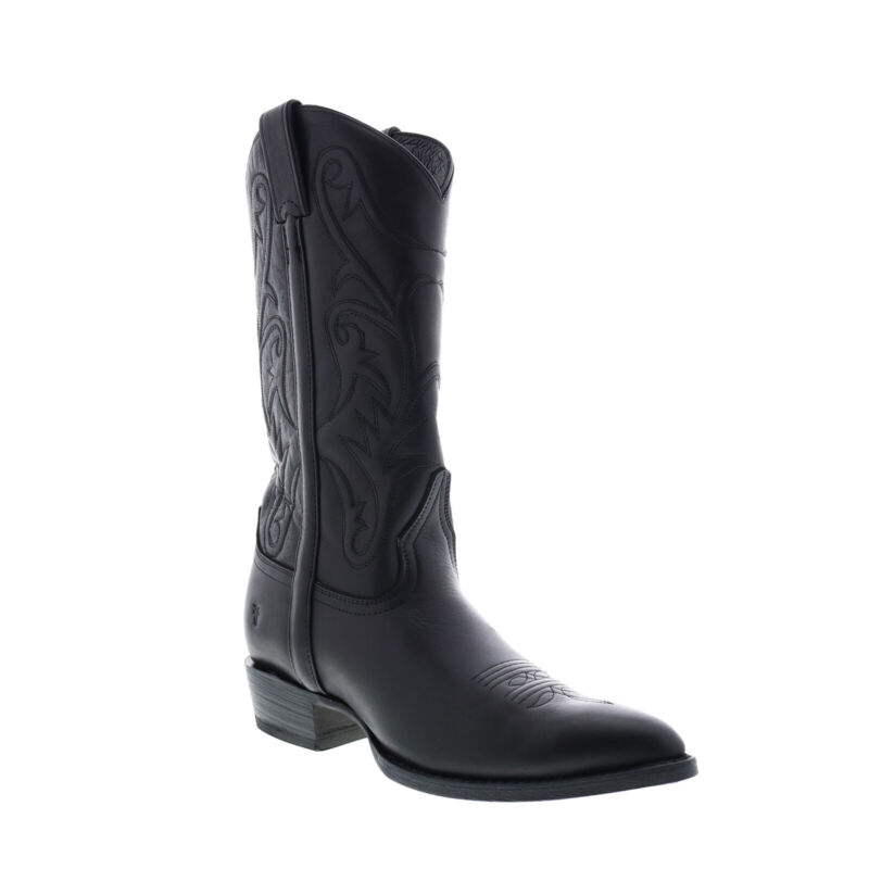 Frye Bruce Pull On 87688 Mens Black Leather Slip On Western Boots