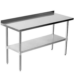 stainless steel table ebay rh ebay co uk kitchen stainless steel work table kitchen stainless steel table malaysia