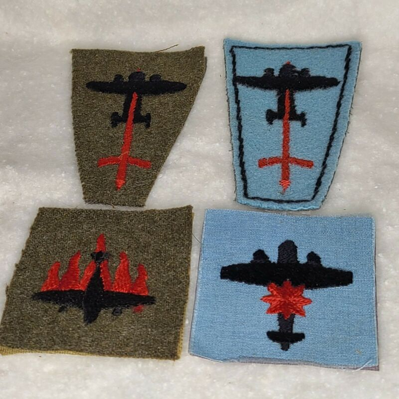 WW 11 MILITARIA  ANTI AIRCRAFT DIVISION BRITISH LOT OF 4 BADGES PATCHES