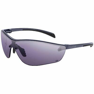 Bolle Silium Plus Safety Glasses Gunmetal Frame Smoke Anti-fog Lens 40238