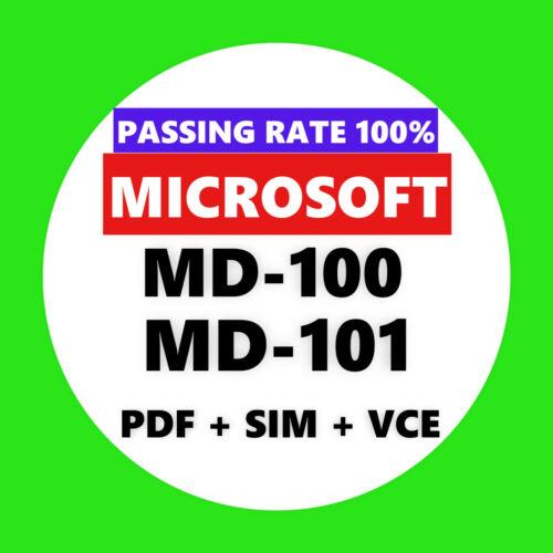 Microsoft MD-100 MD-101 EXAM Test PDF & Sim