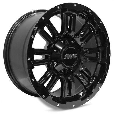 - 4 NEW 17x9 6x139.7 6x135 IWS 5006 Painted Black Wheels Rims Ford Chevy Toyota 12